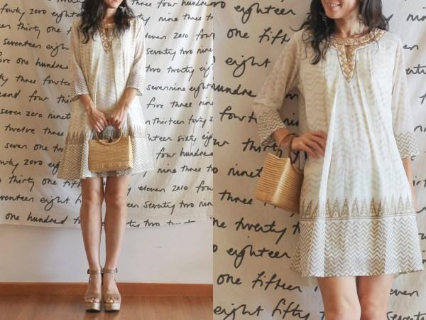 Global Desi Gold Dress2