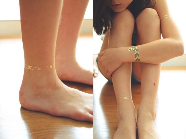 Gumtoo Metallic Gold Tattoos