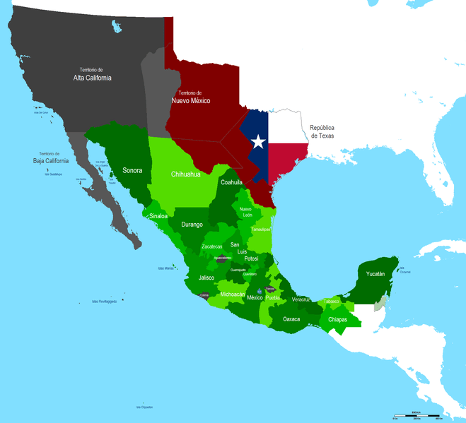 México en 1837.