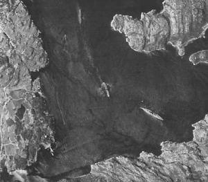 Bismarck y Prinz Eugen en los fiordos Noruegos