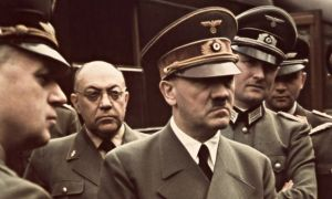 Hitler with his doctor Theodor Morell