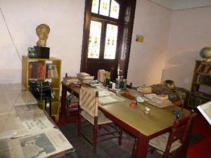 El estudio de Trotsky, donde fue asesinado. No está el piolet.