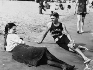 Nikola Tesla en-la-playa-de-midland-nueva-york