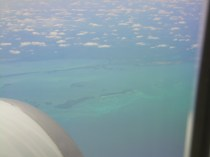 Cuba from the plane