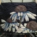 """Coneflower Art Quilt 18""""x24"""" $500"""