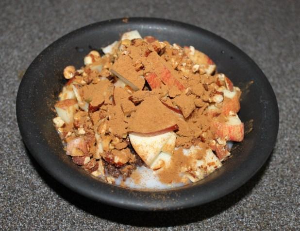 flax granola with apple