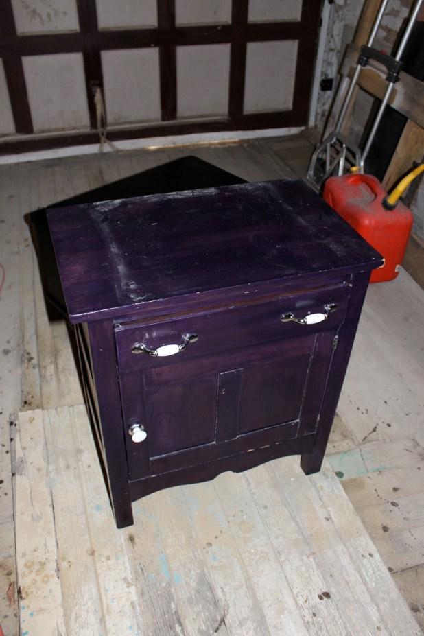 purple wash stand