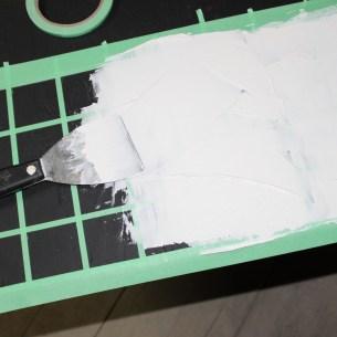 applying plaster
