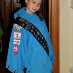 poncho with badges