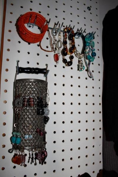 verticle peg-board storage