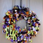 Halloweeen Rag Wreath
