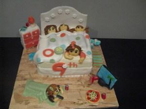 Sleepover Party Cake