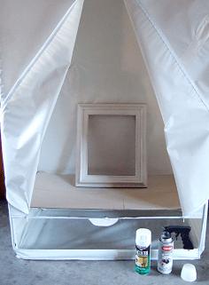spray paint tent