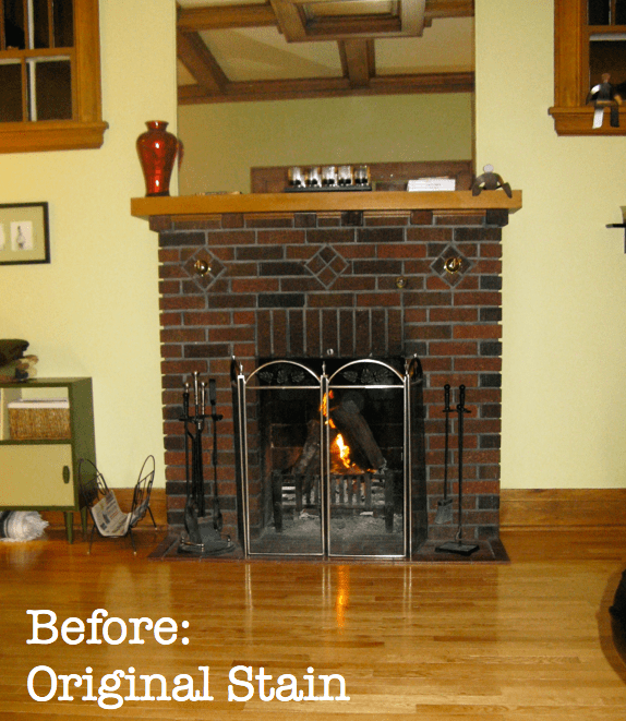 Mantel with original stain