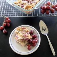 Grape Bread Pudding #BreadBakers
