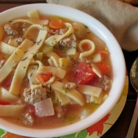 Ground Turkey and Noodle Soup #RecipeReDux