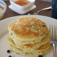 Fruity Hemp Seed Pancakes #BreadBakers