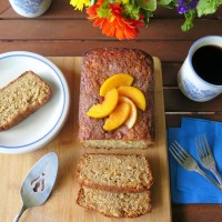 Spicy Peach Oatmeal Bread #BreadBakers