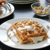 Fluffernutter Waffles #SundaySupper