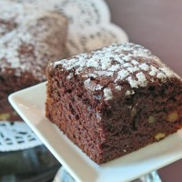 Chocolate Applesauce Cake #Choctoberfest AD #MadeWithRodelle