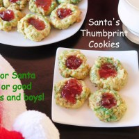 Santa's Thumbprint Cookies #ChristmasCookies
