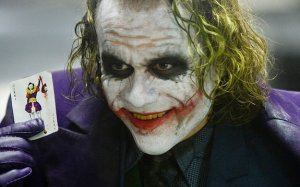 The Joker (Heath Ledger) in Il Cavaliere Oscuro