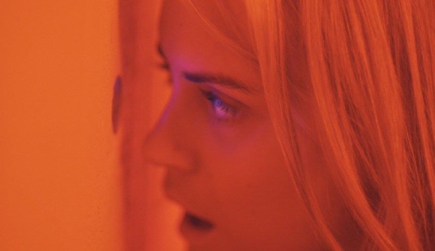 """Taylor Schilling stars in The Orchards' """"The Overnight"""""""