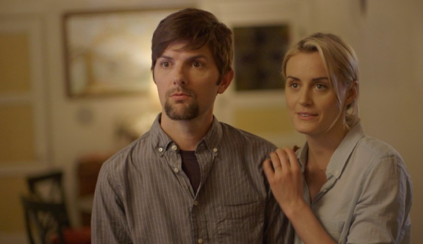 """Adam Scott and Taylor Schilling star in The Orchard's """"The Overnight"""""""
