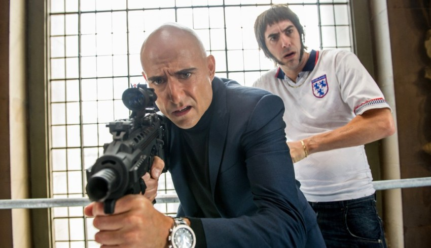 Mark Strong and Sacha Baron Cohen star in Columbia Pictures' THE BROTHERS GRIMSBY