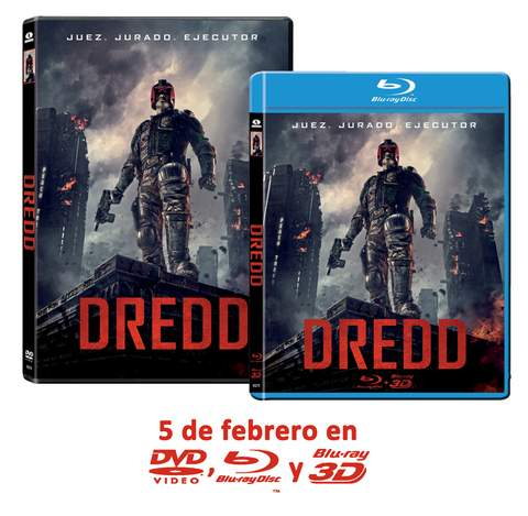 Blu-ray y DVD de Dredd