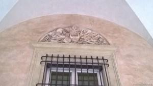 Bologna, Palazzo Sanguinetti già Aldini, sede Museo Internazionale della Musica, lunetta