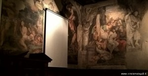 Bologna, complesso Colombano, sede esposizione collezione Tagliavini, affreschi scuola dei Carracci