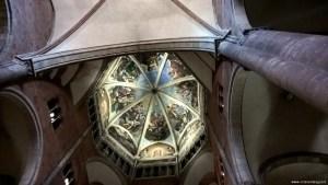 Piacenza, il Duomo, cupola con gli affreschi del Guercino