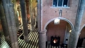 Piacenza, il Duomo, interno, vista dal matroneo durante l'ascesa alla cupola