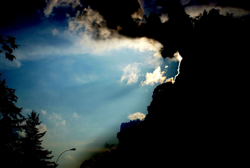 hear, listen, light into darkness, clouds and sky, light, circle of hope, church, sunday meeting