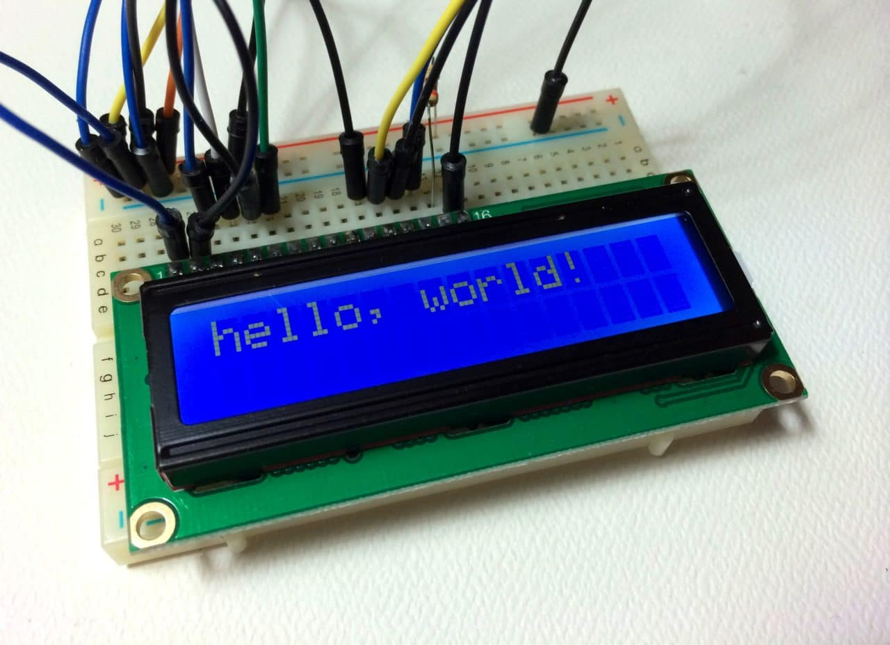 How to set up an lcd display on arduino