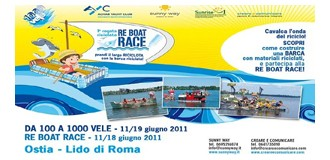 "Re Boat Race, la prima regata ""riciclata"""