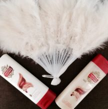 New body lotion and body wash with perfume.