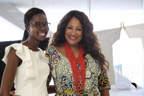 Michelle McKinney Hammond with a She Hive Accra attendee / Photo Credit: SLA