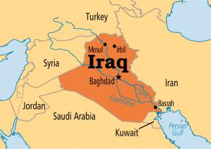 Where is Iraq on the map  Exact location of Iraq and coordinates  Image of Iraq