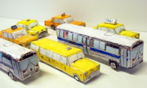 Chase Ferguson, Vehicle Sculptures, mixed media, 2012