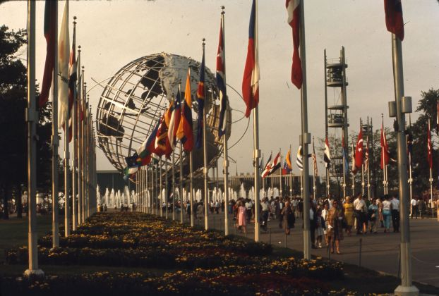 View of the Unisphere, at the 1964/65 World's Fair, 1965.