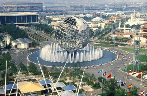 Gilmore D. Clark's Unisphere pictured in 1965.