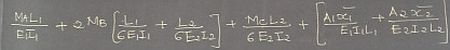 Clapeyron's three moment equation for continuous beam