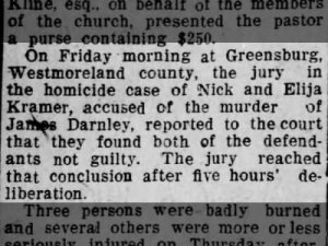 Trial of my 3rd great grandfather's (James Patternson Darnley) murder.