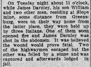 James Patterson Darnley. Altoona Tribune (Altoona, Pennsylvania), 20 March 1908, Page 6. Courtesy of Newspapers.com.