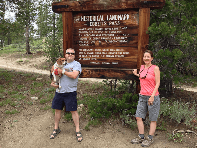 Old Emigrant Road, Ebbetts Pass, Jeff and Colleen Greene