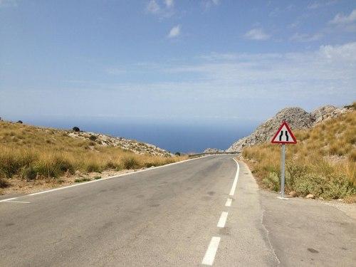 ... Mallorca a klikatá cesta na Formentor, zastávka každého správného cyklisty ...