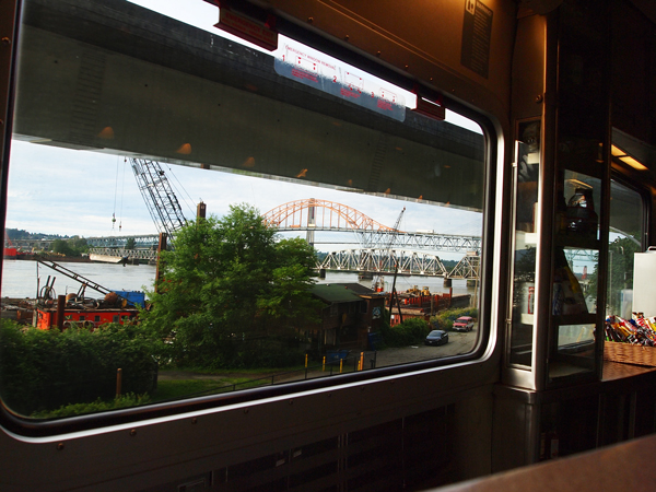 View from the window - Amtrak Cascades Rail from Vancouver to Seattle