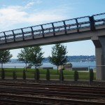 Approaching Seattle - Amtrak Cascades Rail from Vancouver to Seattle